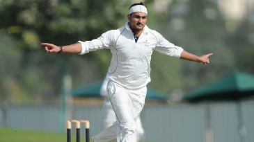 Hamid Hassan celebrates the dismissal of Andrew Strauss