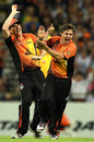 Brad Hogg sets off his celebrations