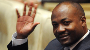 Brian Lara at an event in India