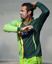 Wahab Riaz at a practice session