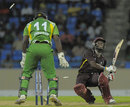 Devon Thomas is bowled for 26, Guyana v Leeward Islands, Caribbean T20 2011-12, Group A match, North Sound, Antigua, January 9, 2012