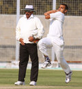 Harshal Patel in his delivery stride, Haryana v Rajasthan, 1st semi-final, Ranji Trophy 2011-12, Rohtak, 1st day, January 10, 2012