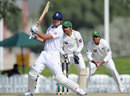 Alastair Cook plays the pull, Pakistan Cricket Board XI v England XI, Tour match, 1st day, Dubai, January 11, 2012