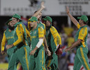 South Africa get together after a wicket, South Africa v Sri Lanka, 1st ODI, Paarl, January 11, 2012