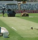 The WACA pitch of the eve of the third Test between Australia and India, Perth, January 12, 2012