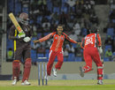 Sunil Narine claimed four wickets in an over, Leeward Islands v Trinidad & Tobago, Caribbean T20 2011-12, Group A match, North Sound, Antigua, January 11, 2012