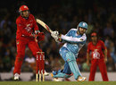 Daniel Vettori slugs a ball to the leg side, Melbourne Renegades v Brisbane Heat, BBL, Melbourne, January 12, 2012