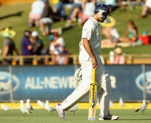 VVS Laxman trudges off the WACA after making a duck, Australia v India, 3rd Test, Perth, 2nd day, January 14, 2012
