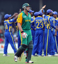 Jacques Kallis walks off after being dismissed, South Africa v Sri Lanka, 2nd ODI, East London, January 14, 2012