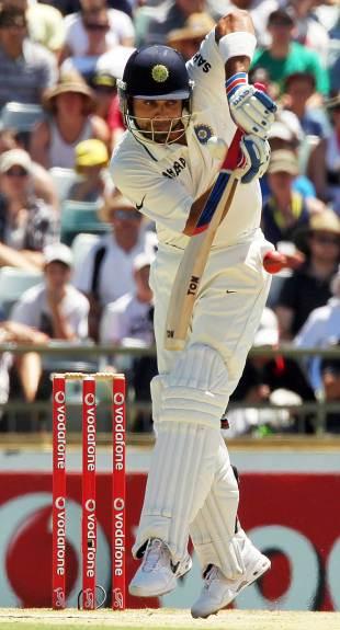 Virat Kohli works one away, Australia v India, 3rd Test, Perth, 3rd day, January 15, 2012