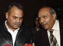 Dav Whatmore and Intikhab Alam speak to reporters, Lahore, January 16, 2012