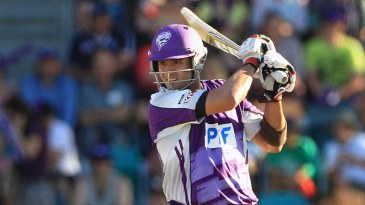Owais Shah cuts during his 49 off 30 balls