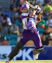 Owais Shah cuts during his 49 off 30 balls, Hobart Hurricanes v Melbourne Renegades, BBL, Hobart, January 18, 2012