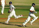 Vineet Saxena and Aakash Chopra during their 236-run stand, Tamil Nadu v Rajasthan, Ranji Trophy final,Chennai, 2nd day, January 19, 2012