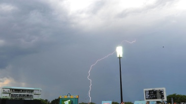 Lightning in Kimberley during the fourth ODI