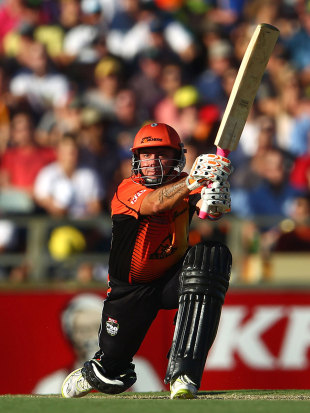 Herschelle Gibbs made an attacking 71 off 46 balls, Perth Scorchers v Melbourne Stars, BBL, 1st semi-final, Perth, January 21, 2012