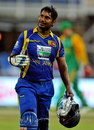 Kumar Sangakkara rues his dismissal shortly after getting to his century