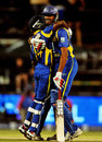 Sachithra Senanayake hit the six that won Sri Lanka the match