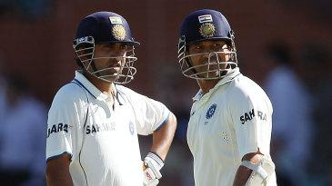 Gautam Gambhir and Sachin Tendulkar went to stumps unbeaten