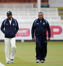 Tillakaratne Dilshan and team manager Anura Tennekoon walk around the ground during practice, Lord's, June 2, 2011