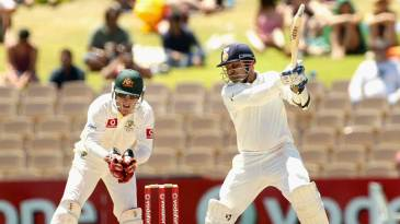 Virender Sehwag cracks one through the off side