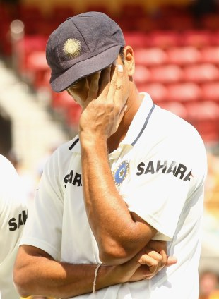 Rahul Dravid at the post-match presentation, 4th Test, Adelaide, 5th day, January 28, 2012