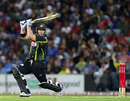 Travis Birt drives, Australia v India, 1st Twenty20, Stadium Australia, Sydney, February 1, 2012