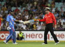 MS Dhoni lost his bat while attempting a big hit, Australia v India, 1st Twenty20, Stadium Australia, Sydney, February 1, 2012