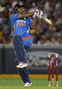 MS Dhoni pulls on one leg, Australia v India, 2nd T20I, Melbourne, February 3, 2012