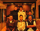 Devang Gandhi (sitting left) along with cricketers from Kashmir and cricket writer Mudar Patherya (sitting right), Kolkata