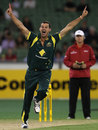 Clint McKay celebrates the wicket of Rohit Sharma, Australia v India, CB Series, 1st ODI, Melbourne, February 5, 2012