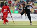 Tarun Nethula wheels away on debut, New Zealand v Zimbabwe, 2nd ODI, Whangarei, February 6, 2012