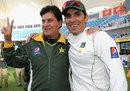 Misbah-ul-Haq with coach Mohsin Khan after Pakistan's series win, Pakistan v England, 3rd Test, Dubai, 4th day, February 6, 2012