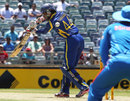 Upul Tharanga nicks into the slip cordon