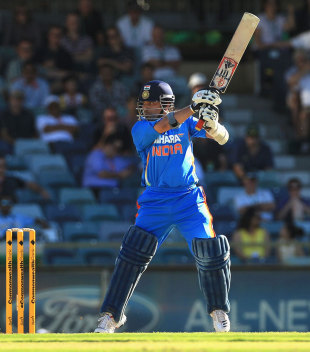 Sachin Tendulkar cuts powerfully, India v Sri Lanka, CB Series, 2nd ODI, Perth, February 8, 2012