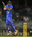 Ravindra Jadeja plays a square cut, India v Sri Lanka, CB Series, 2nd ODI, Perth, February 8, 2012