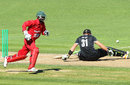 Martin Guptill is stumped for 85 off 69 balls, New Zealand v Zimbabwe, 3rd ODI, Napier, February 9, 2012