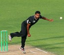 Legspinner Tarun Nethula in action in his second ODI, New Zealand v Zimbabwe, 3rd ODI, Napier, February 9, 2012