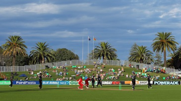 A view of the cricket at McLean Park