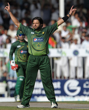 Another five-for for Shahid Afridi, Afghanistan v Pakistan, one-off ODI, Sharjah, February 10, 2012