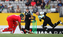 Brendon McCullum fluffs a stumping chance to give Hamilton Masakadza a life