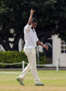 Ryan Austin claimed a ten-wicket match haul, Combined Campuses and Colleges v Leeward Islands, Regional Four Day Competition, Three Ws Oval, Bridgetown, Barbados, February 11, 2012