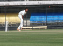 Shami Ahmed delivers the ball