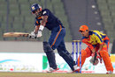 Kieron Pollard made an unbeaten 50 for Dhaka Gladiators, Chittagong Kings v Dhaka Gladiators, Bangladesh Premier League, Mirpur, February 13, 2012