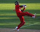 Hamilton Masakadza plays a cross-batted shot