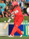 Hamilton Masakadza winds up for a big hit