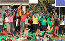 Zimbabwe fans cheer from the sidelines