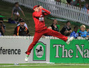 Malcolm Waller catches Brendon McCullum right on the boundary