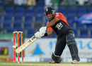 Samit Patel hits a boundary during his quickfire 17 from 12 balls, Pakistan v England, 1st ODI, Abu Dhabi, February, 13, 2012