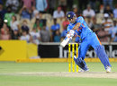 MS Dhoni carves the final ball through the offside for three, India v Sri Lanka, Commonwealth Bank Series, Adelaide, February 14, 2012